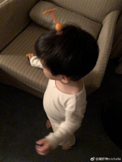 陳妍希,陳曉,兒子,小星星,生日/翻攝自陳妍希微博