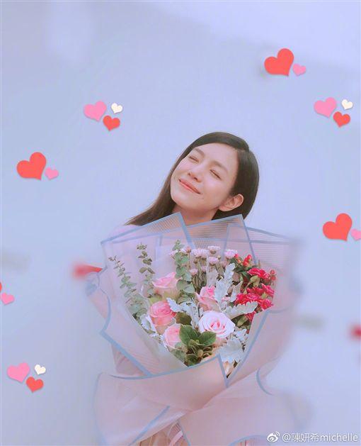 陳妍希,陳曉/翻攝自陳妍希微博
