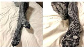 蛇皮絲襪 擬真 翻攝推特