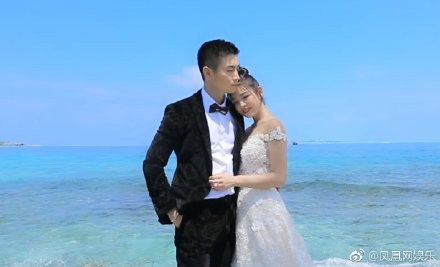 陳妍希,陳曉,婚紗照,馬爾地夫(圖/翻攝自微博)