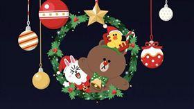 LINE推出聖誕節特效。(圖/翻攝畫面)