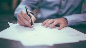 簽名,簽字,同意書 圖/pixabay