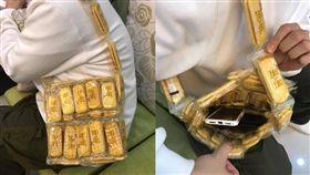 交換禮物,背包,聖誕節,旺旺仙貝,好運(圖/翻攝自爆廢公社)