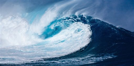 海嘯示意圖,圖/翻攝自Pixabay