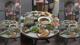 男網友到朋友家教做湯圓,順手煮了24道菜網傻眼。(圖/翻攝爆廢公社)