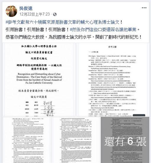 新北,輔大,性侵,乘機性交未遂罪,夏林清,吳俊達 (圖/翻攝臉書)
