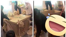 網友交換禮物抽到超狂工地用推車。