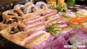 網紅愛心噴發的各式壽司。