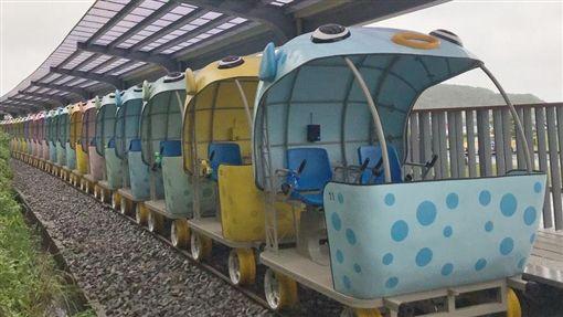 深澳鐵道自行車,河豚,八斗子,深澳(記者郭奕均攝影)