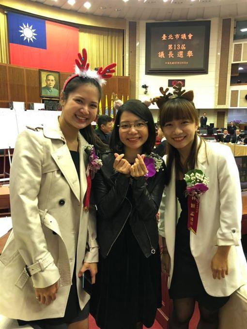 時代力量台北市議員林亮軍、黃郁芬、林孟穎(圖/翻攝自林孟穎臉書)