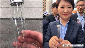 台中盧秀燕就職禮物-谷關空氣瓶 圖翻攝自爆怨公社、記者張雅筑攝影