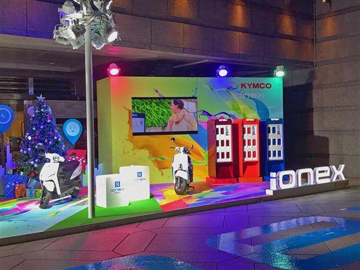 光陽將在台北101四號出口捷運廣場舉辦長達1個月的車展。(圖/KYMCO提供)