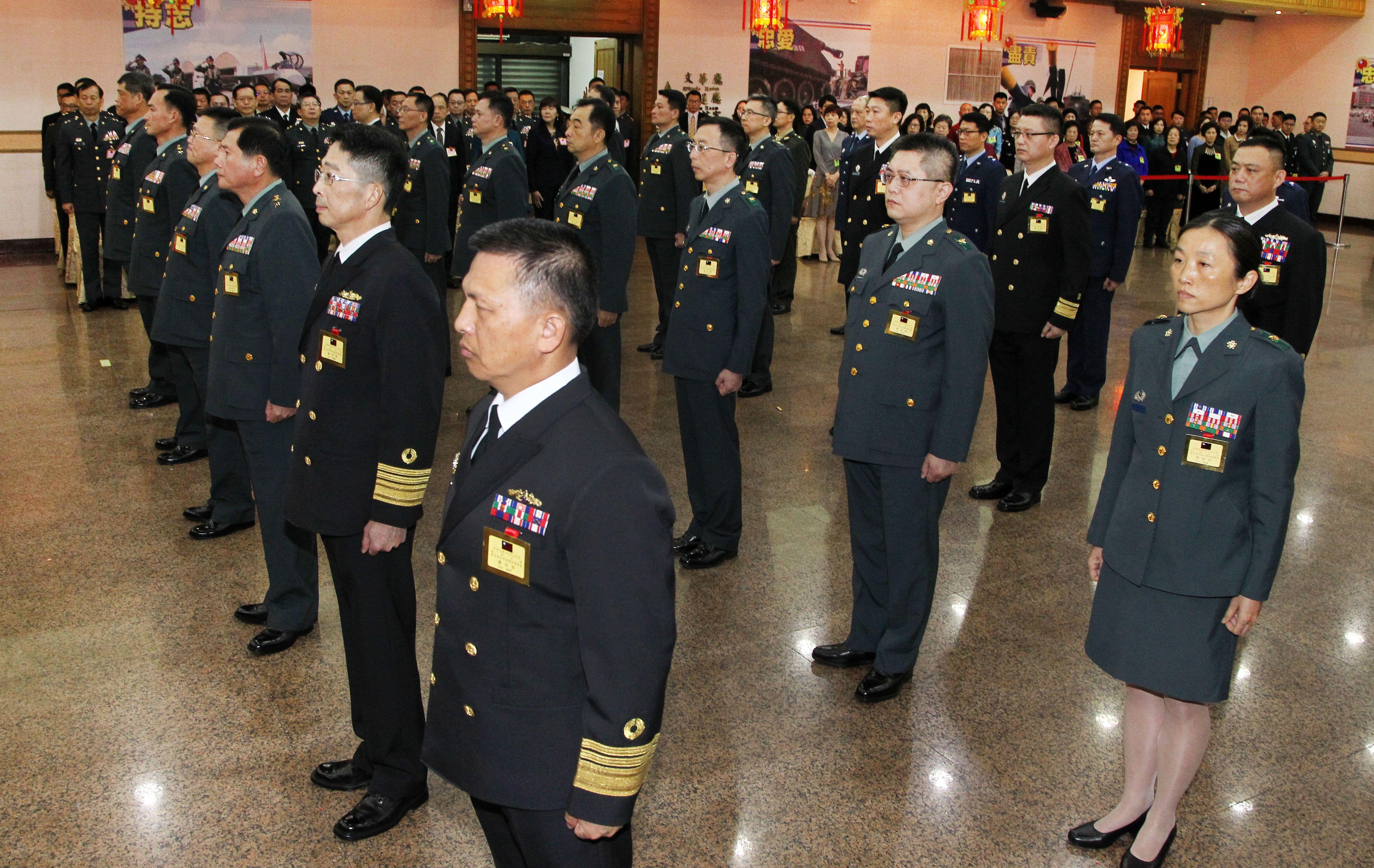 108年上半年陸海空軍將官晉任人員。(記者邱榮吉/攝影)