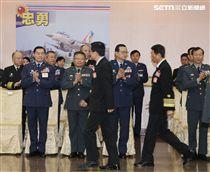 國防部嚴德發部長主持中華民國108年上半年陸海空軍將官晉任布達暨授階典禮。(記者邱榮吉/攝影)
