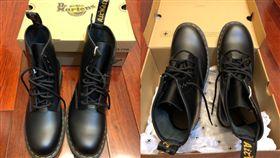 男網友搶便宜馬汀靴,結果搶到兩隻都同腳的。(圖/翻攝Costco好市多 商品經驗老實說臉書)