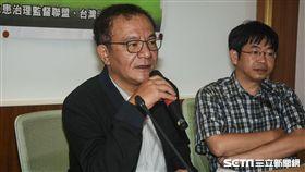 立委高志鵬主持水利法修法增加「逕流分擔與出流管制」記者會。 (圖/記者林敬旻攝)