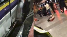 列車進站翻越月台閘門 女子遭夾腰慘死(圖/翻攝自上海地鐵shmetro微博)