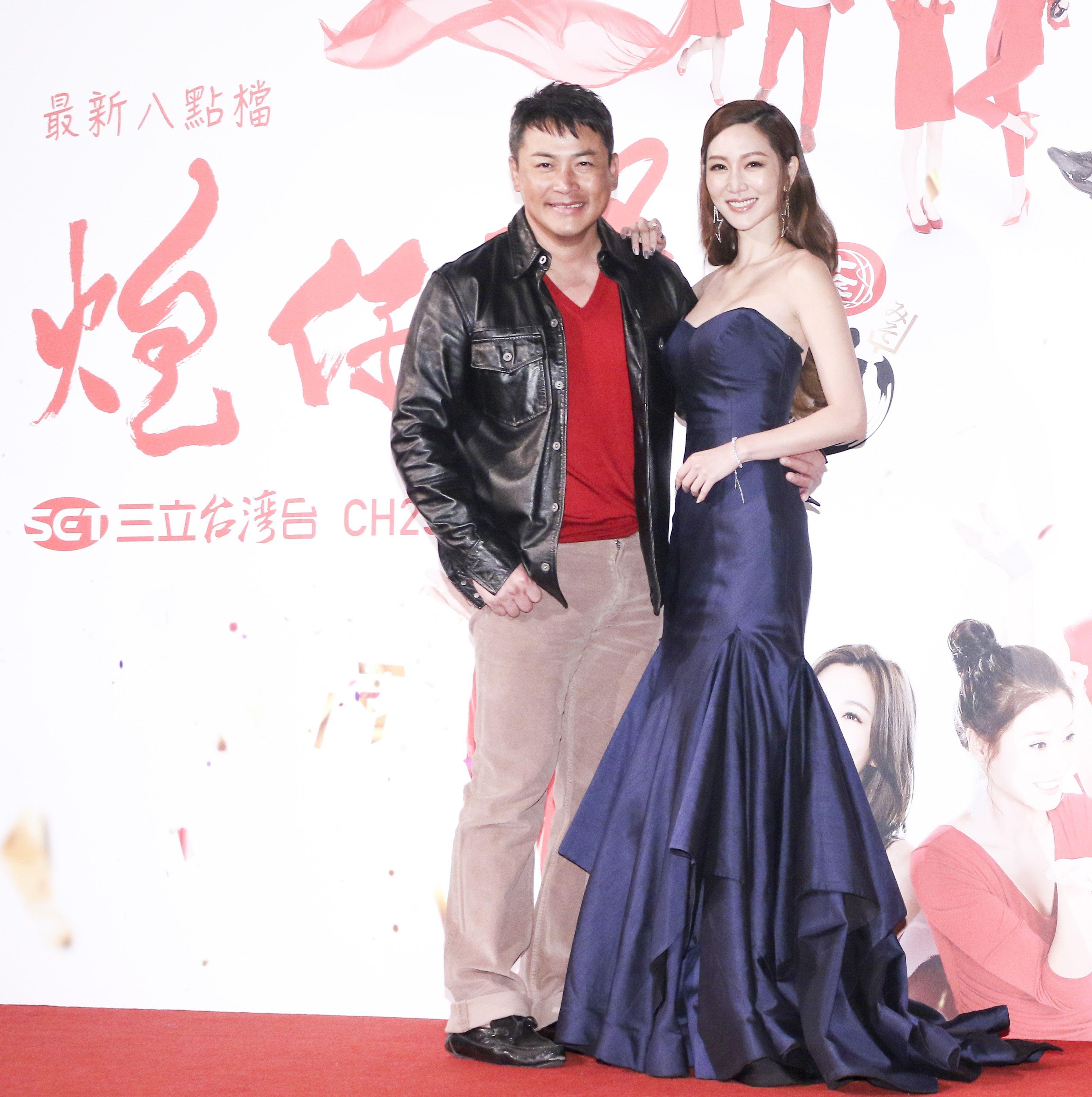 三立新八點台劇「炮仔聲」首映會,江宏恩、曾莞婷。(記者林士傑/攝影)