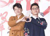 三立新八點台劇「炮仔聲」首映會,陳志強、陳冠霖。(記者林士傑/攝影)