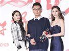 三立新八點台劇「炮仔聲」首映會,李燕、陳冠霖、曾莞婷。(記者林士傑/攝影)
