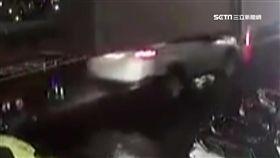 違規站雙黃線過馬路 行人遭撞倒險爆頭