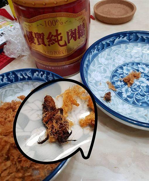 網友吃肉鬆驚見整隻觸角蜜蜂,引起網友熱議。(圖/翻攝爆怨公社)