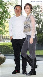 三立新八點華劇「必勝大丈夫」前世情人真心話記者會,蔡振南與林昀希。(記者林士傑/攝影)