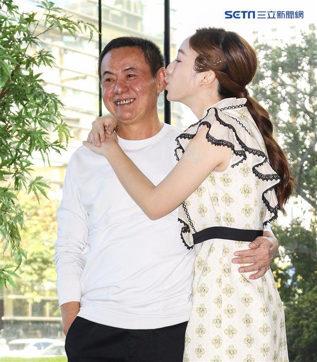三立新八點華劇「必勝大丈夫」前世情人真心話記者會,蔡振南與陳天仁。(記者林士傑/攝影)