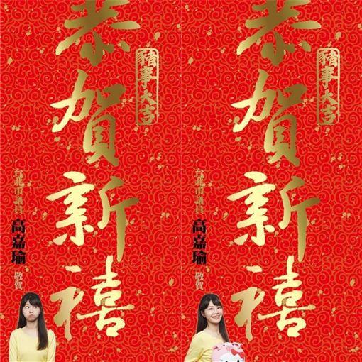 高嘉瑜,春聯,高清,台北市,民進黨 (圖/高嘉瑜臉書)