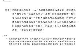 林俊憲貼文下周提出修正草案,酒駕致人於死者,以殺人罪論處。臉書