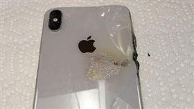 iPhone XS Max 自燃 起火 翻攝網路