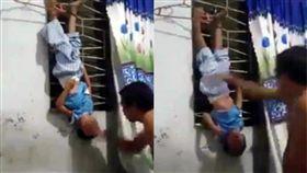 出軌,倒吊,毆打,虐童,菲律賓,喝酒,威脅,毆打 圖/翻攝自YouTube