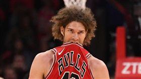 NBA/激怒吉祥物殺手 暴龍GG了 NBA,芝加哥公牛,吉祥物殺手,Robin Lopez,多倫多暴龍 翻攝自推特