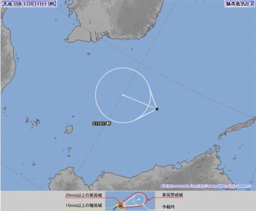 南海熱帶低壓蠢動 最快元旦成2019年首颱「帕布」日本氣象廳