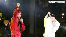 台北跨年:鼓鼓、蕭秉治 圖/記者林士傑攝影