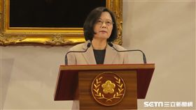 總統蔡英文發表新年談話。(圖/記者盧素梅攝)