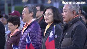 2019年元旦升旗,總統蔡英文,新台灣人吳鳳、戴維斯等領唱國歌