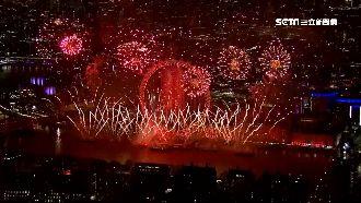 全球跨年接力慶祝!炫目煙火一次看