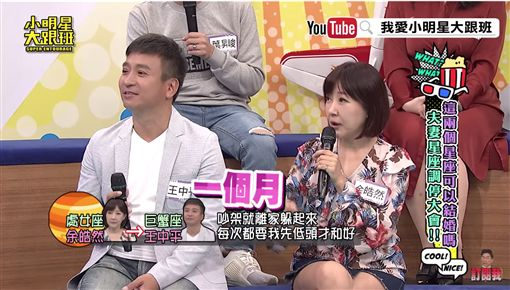 王中平、余皓然上《小明星大跟班》 圖/翻攝自臉書、YouTube