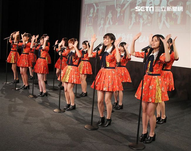 台灣女子團體AKB48 Team TP安安大明星。(記者邱榮吉/攝影)