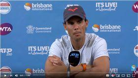▲納達爾宣布退出布里斯本網賽。(圖/翻攝自Brisbane International YouTube)
