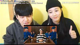 韓國網紅拍攝看蔡依林MV反應。(圖/韓勾ㄟ金針菇 찐쩐꾸臉書授權)