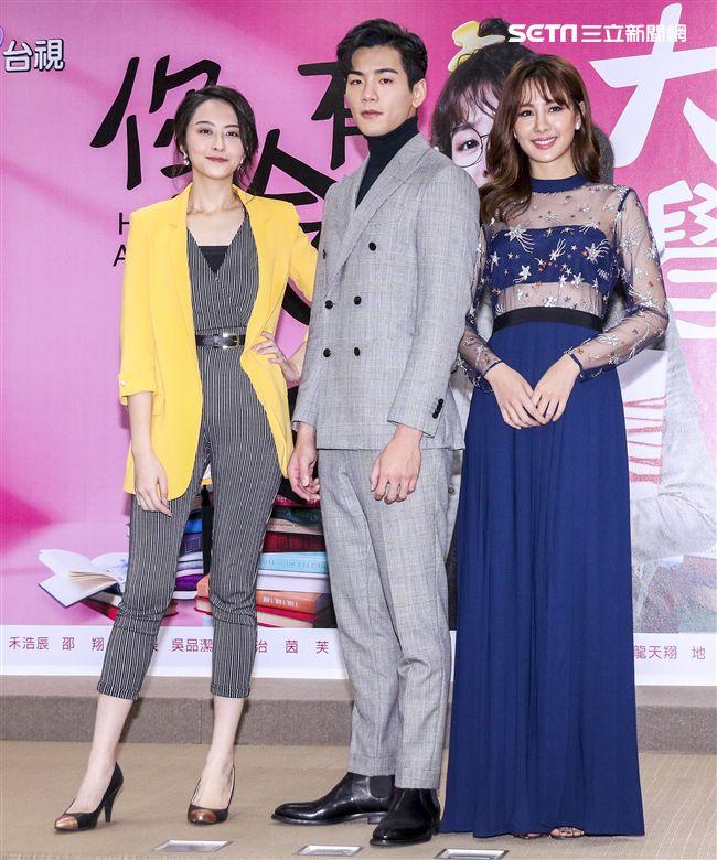 「你有念大學嗎?」演員吳品潔、禾浩辰 (布魯斯)、安心亞一同出席。(記者林士傑/攝影)