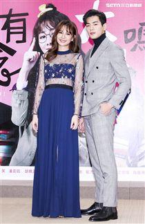 「你有念大學嗎?」演員安心亞、禾浩辰 (布魯斯)一同出席。(記者林士傑/攝影)