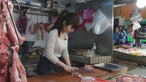 東門市場,豬肉西施,張采婕(記者陳則凱攝影)