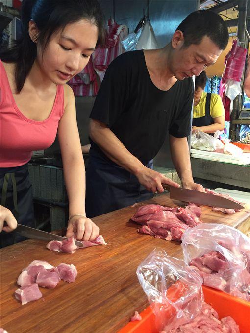 東門市場,豬肉西施,張采婕(張采婕提供)