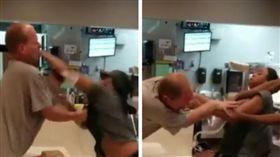 影片曝光!麥當勞白目奧客惹到「女黑人拳擊手」…慘遭痛毆(圖/翻攝自Kinie Biandudi臉書)