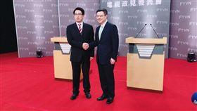 行政院前秘書長卓榮泰、台灣民意基金會董事長游盈隆4日進行民進黨主席補選第二場辯論。