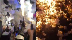 韓國,夜店,火災,仙女棒,跨年 (圖/翻攝自臉書웅열)