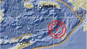 印尼再傳5.6強震 暫未發海嘯警報 圖/印尼氣象局BMKG推特